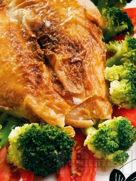 Сочни мариновани пилешки гърди с кимион, канела, чесън на прах и бяло вино печени на фурна - снимка на рецептата